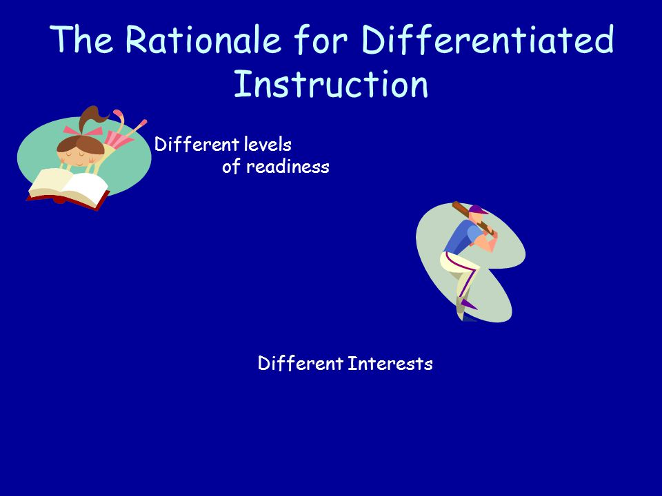 The Rationale for Differentiated Instruction