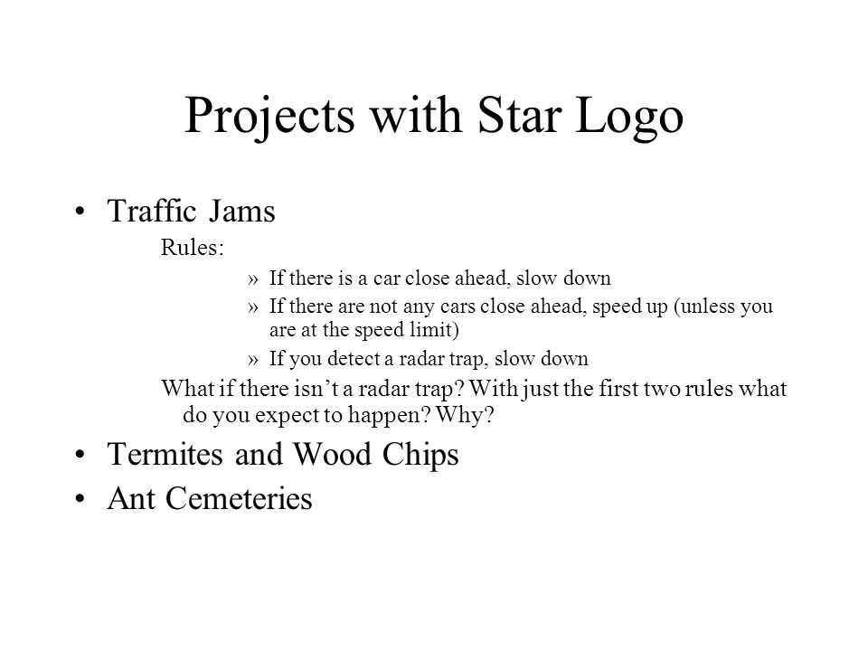 Projects with Star Logo