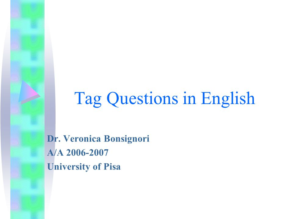 Tag Questions in English