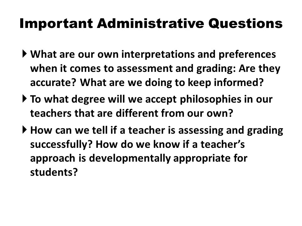 Important Administrative Questions