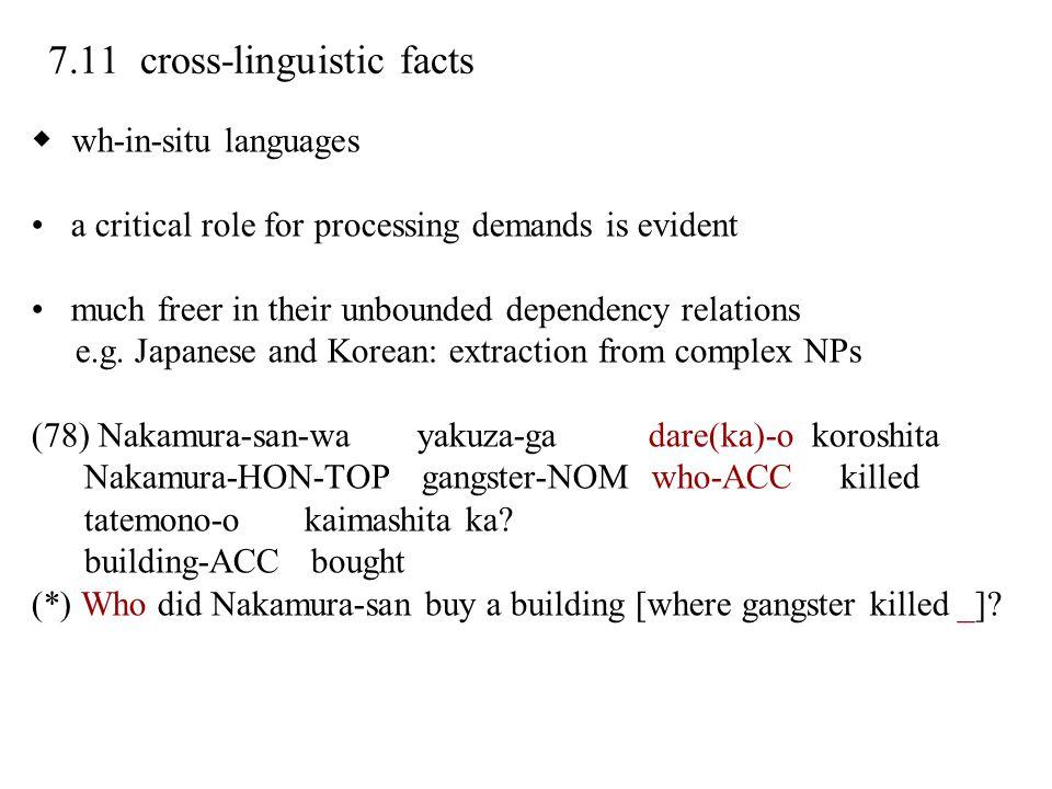 7.11 cross-linguistic facts