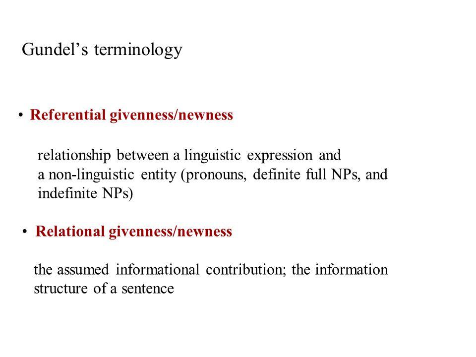 Gundel's terminology