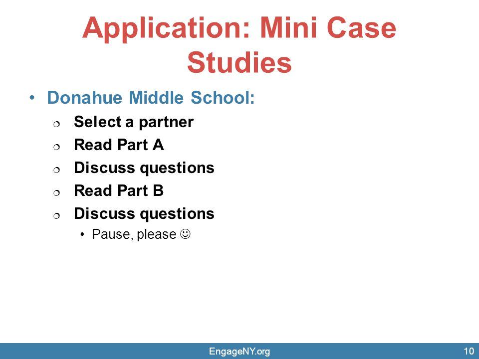 Application: Mini Case Studies