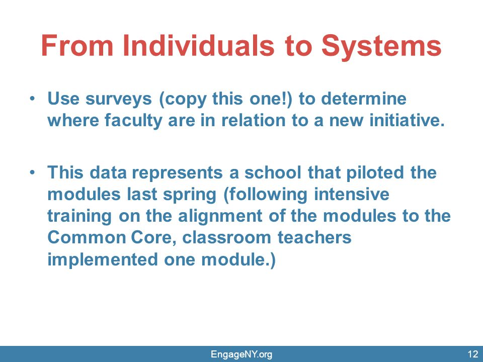 From Individuals to Systems