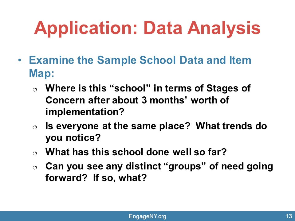 Application: Data Analysis