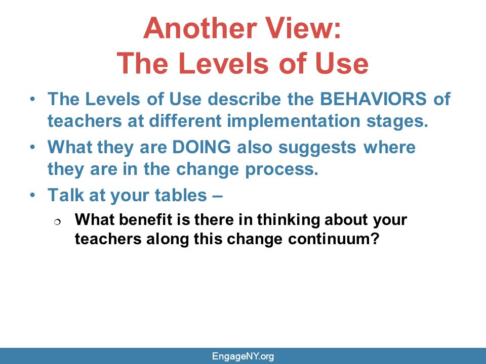 Another View: The Levels of Use