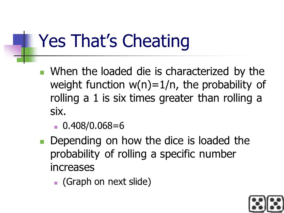Yes That's Cheating
