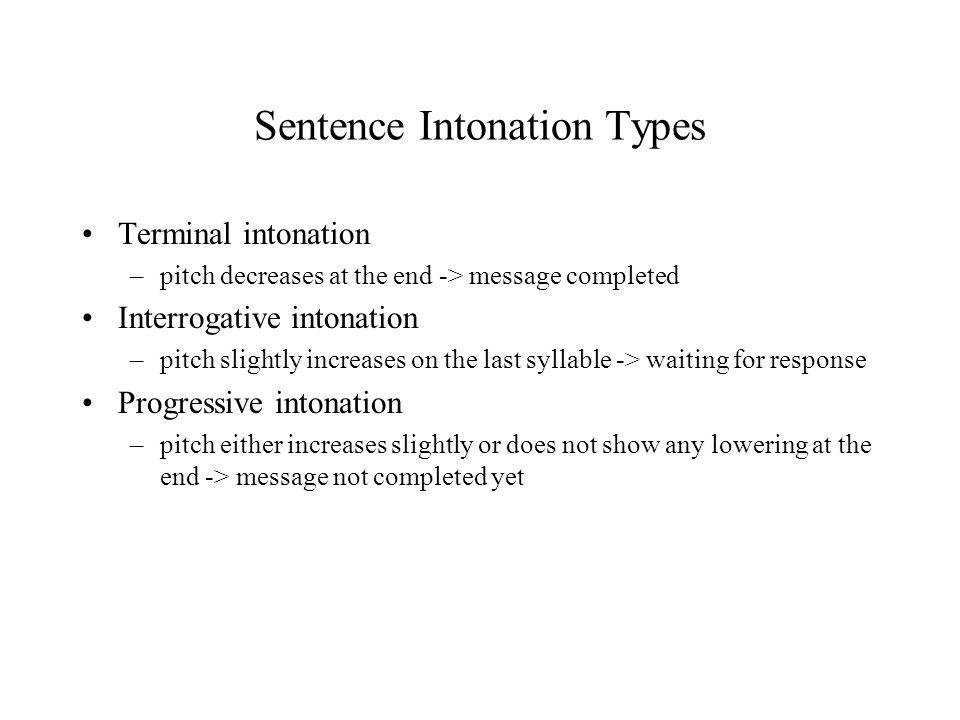 Sentence Intonation Types