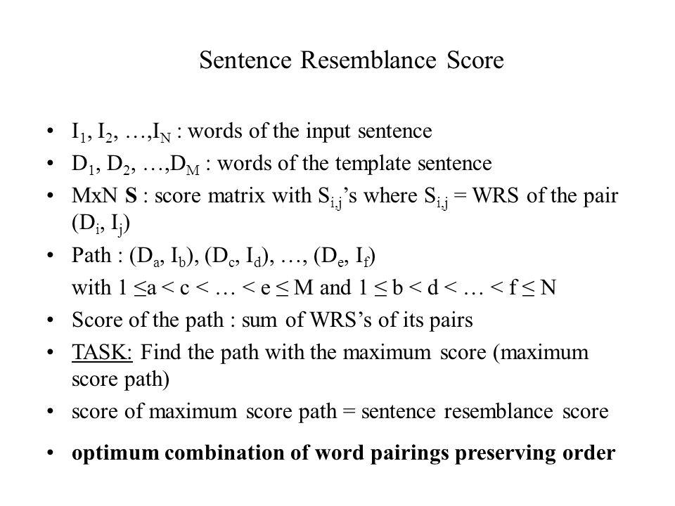 Sentence Resemblance Score