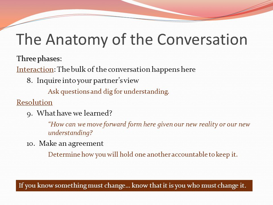 The Anatomy of the Conversation