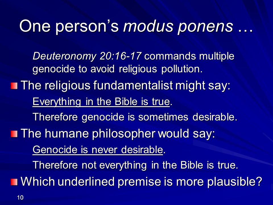 One person's modus ponens …