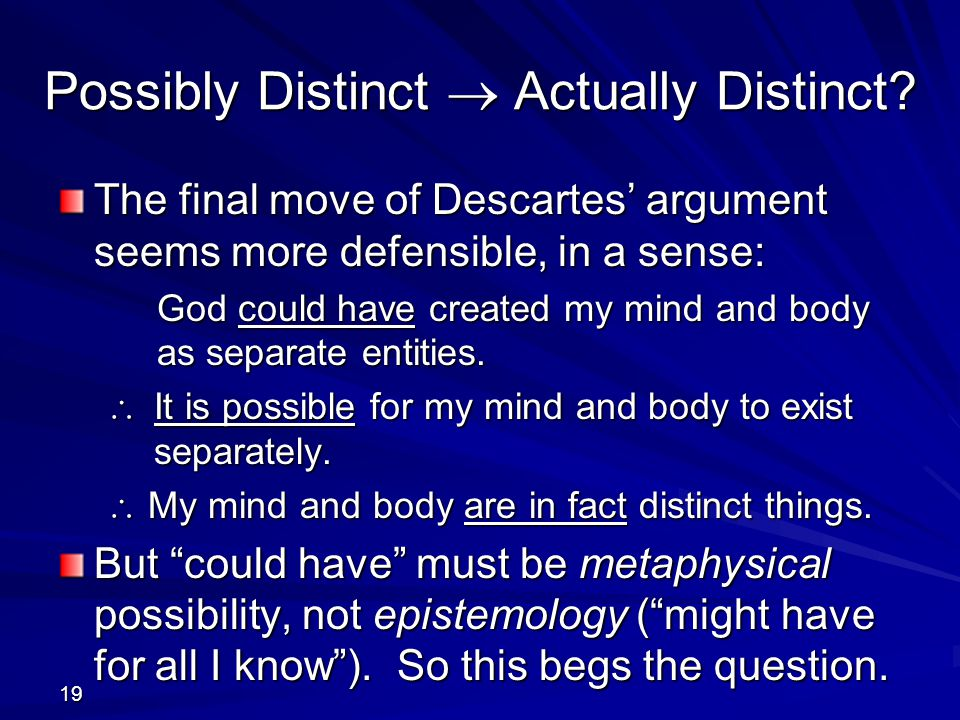 Possibly Distinct  Actually Distinct