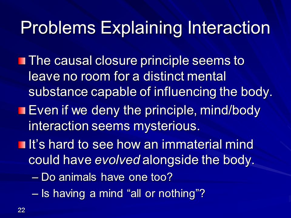 Problems Explaining Interaction