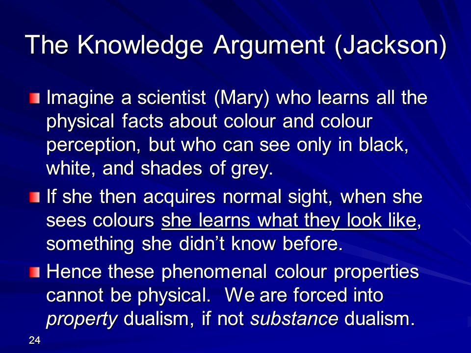 The Knowledge Argument (Jackson)