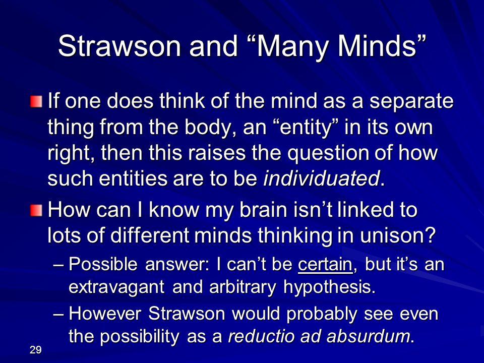 Strawson and Many Minds