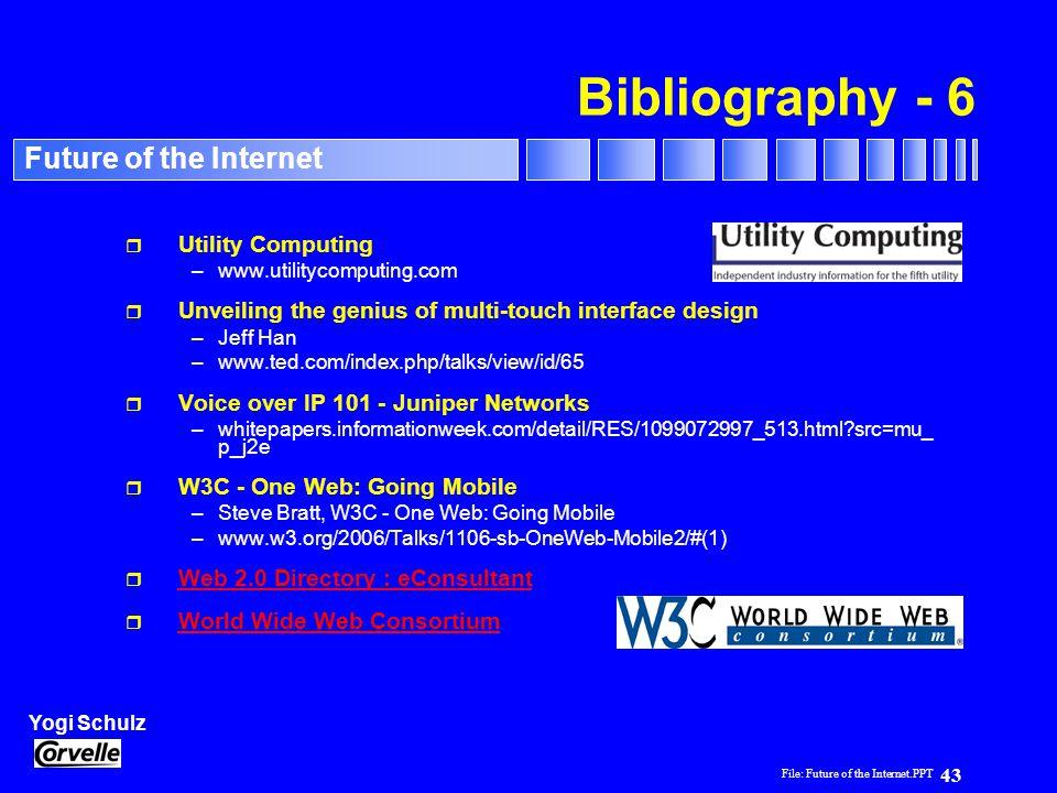 Bibliography - 6 Utility Computing