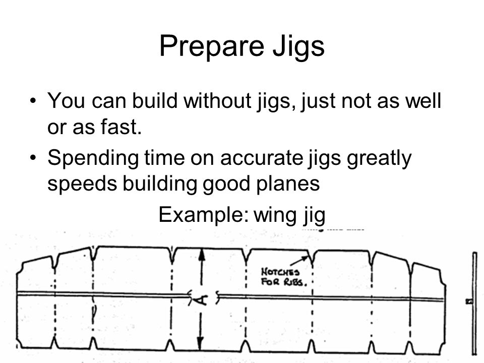 Prepare Jigs You can build without jigs, just not as well or as fast.