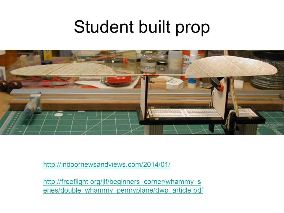 Student built prop http://indoornewsandviews.com/2014/01/