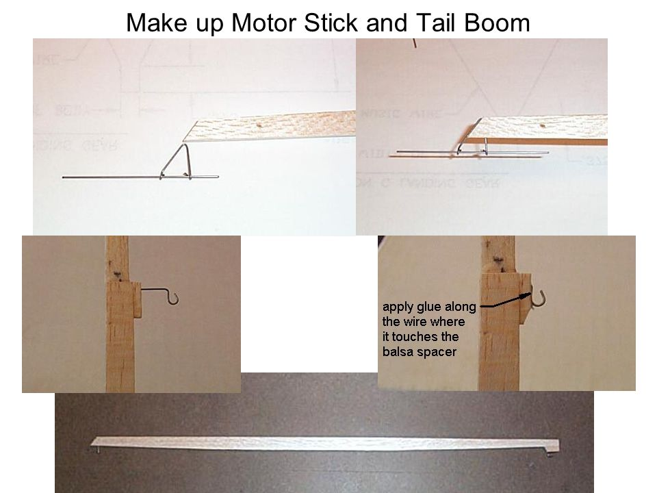 Make up Motor Stick and Tail Boom
