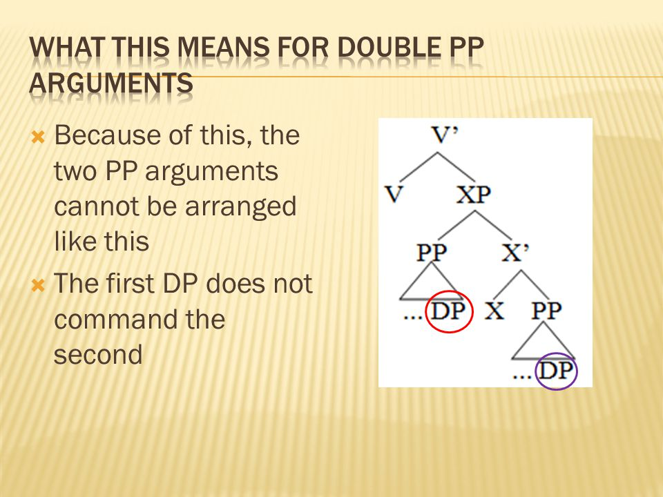 What this means for double pp arguments