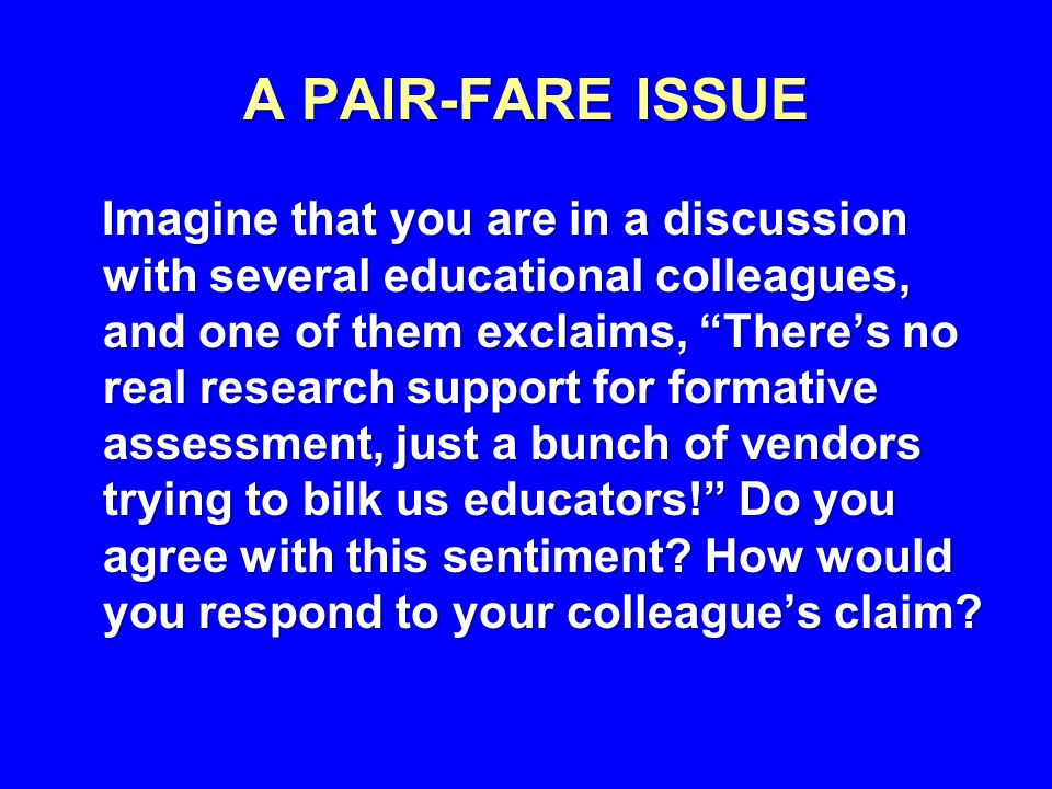 A PAIR-FARE ISSUE