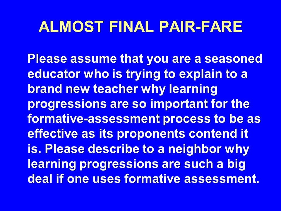 ALMOST FINAL PAIR-FARE