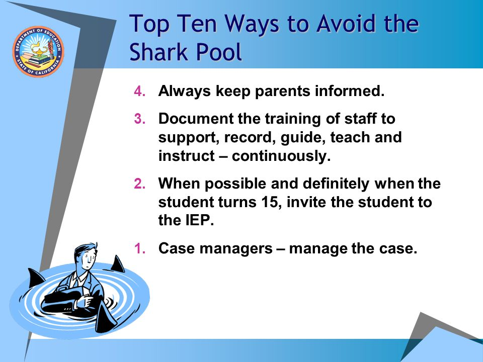 Top Ten Ways to Avoid the Shark Pool