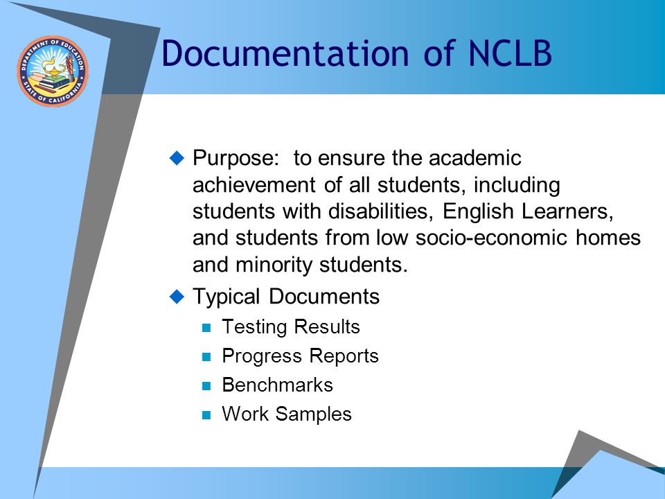 Documentation of NCLB