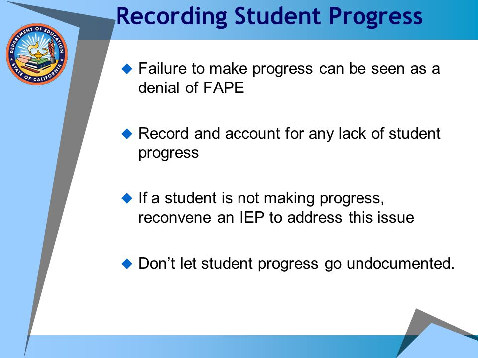 Recording Student Progress