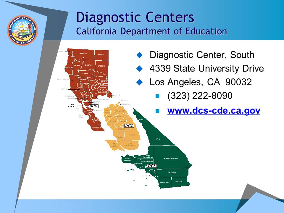 Diagnostic Centers California Department of Education