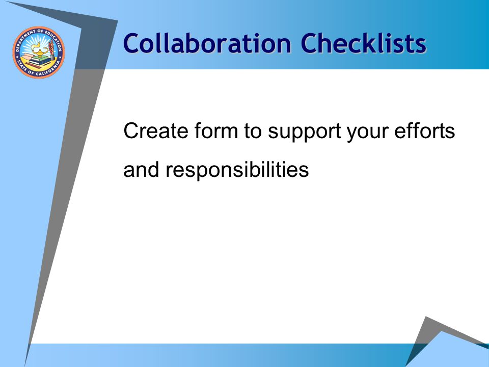 Collaboration Checklists