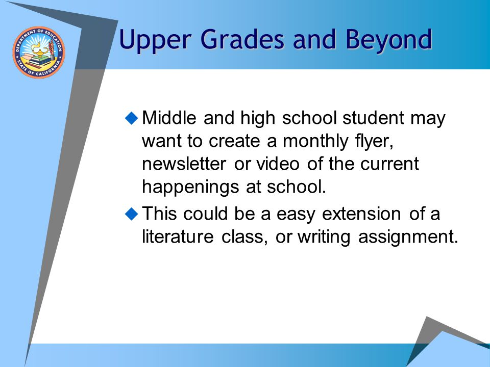 Upper Grades and Beyond