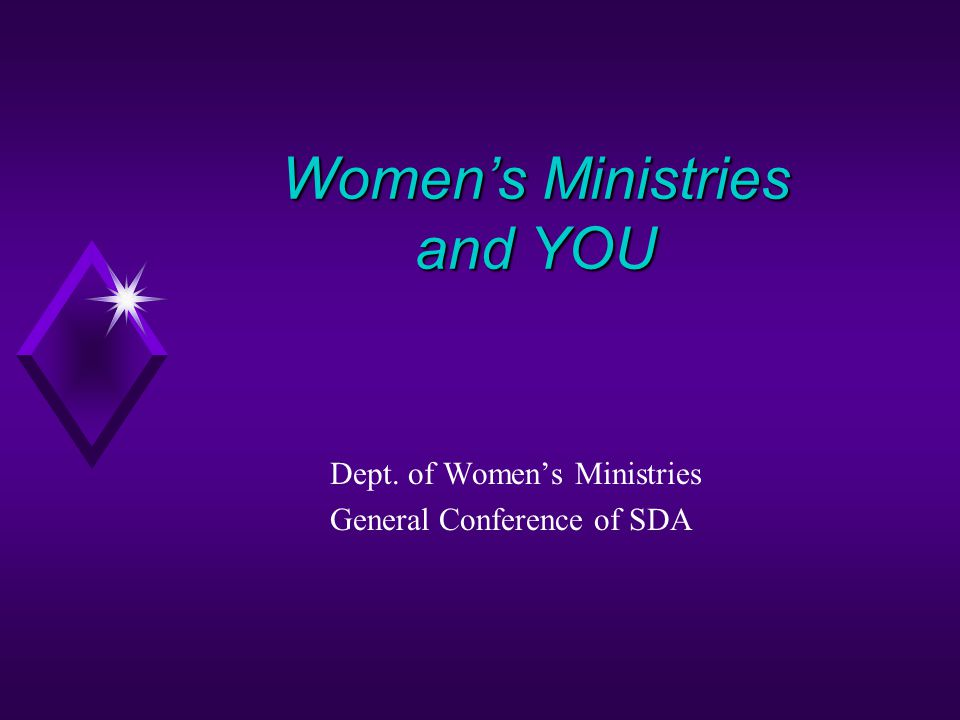 Women's Ministries and YOU