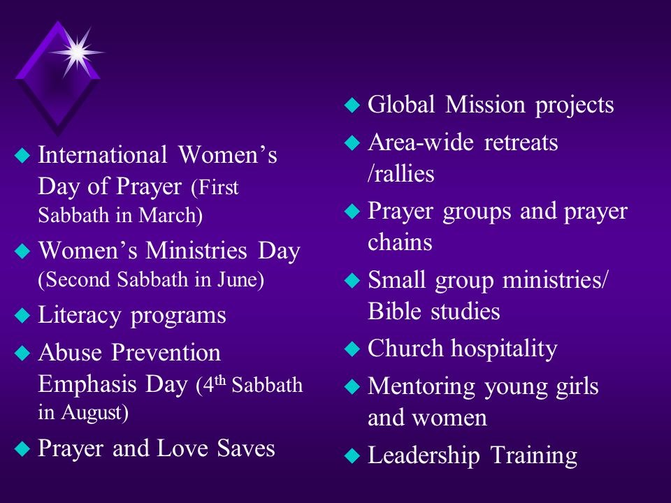 Global Mission projects