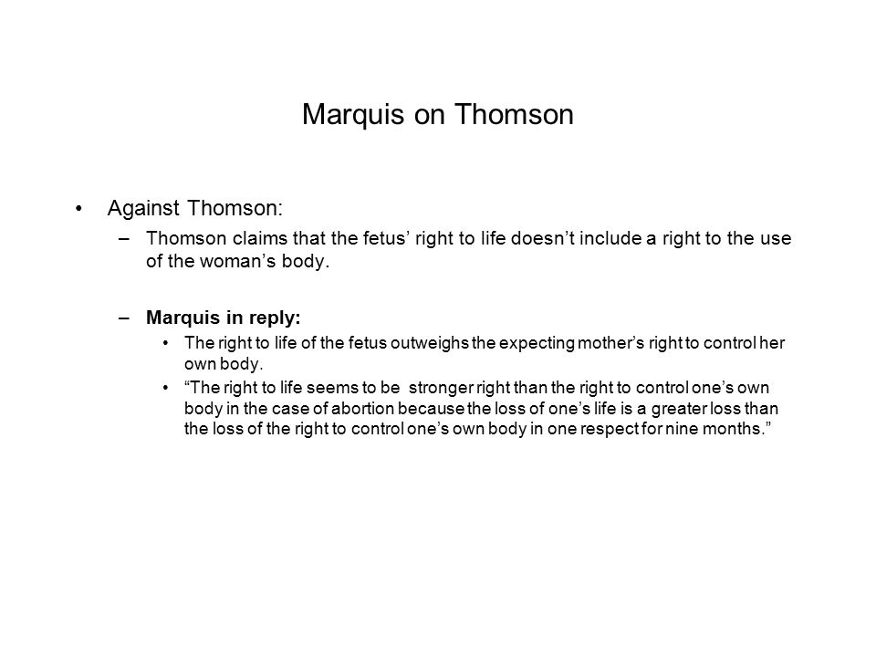 Marquis on Thomson Against Thomson:
