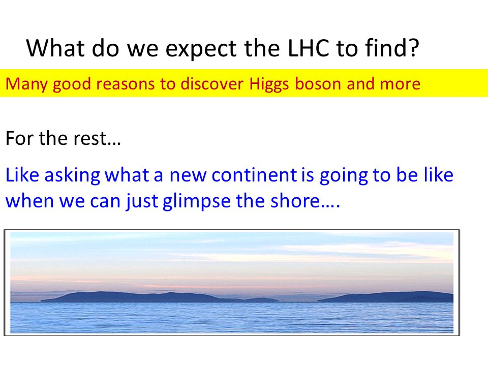 What do we expect the LHC to find