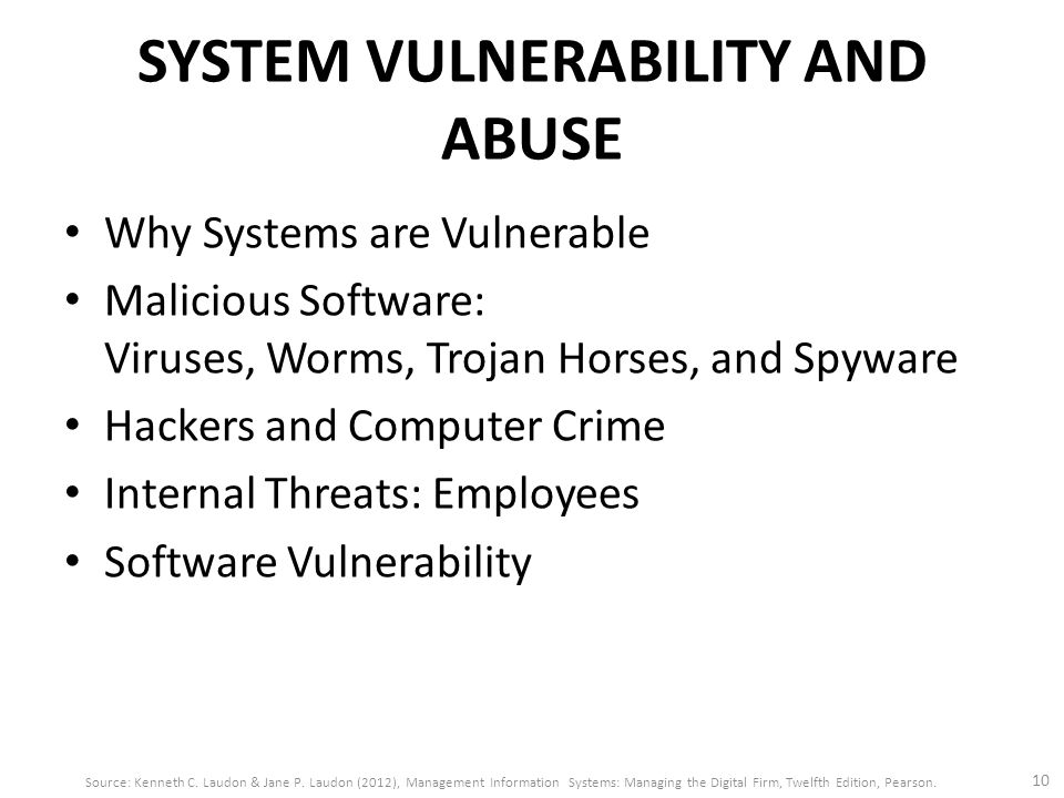 SYSTEM VULNERABILITY AND ABUSE