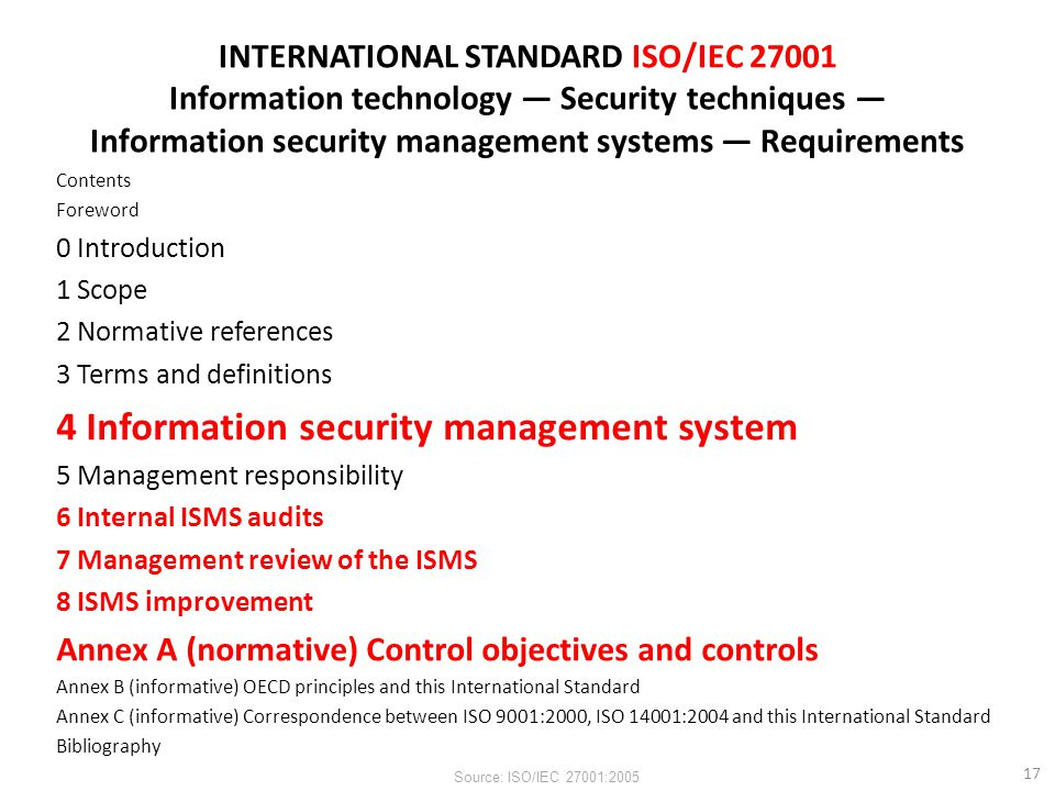 4 Information security management system