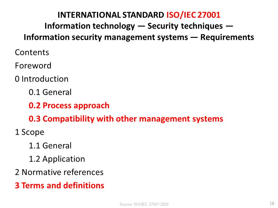 INTERNATIONAL STANDARD ISO/IEC 27001 Information technology — Security techniques — Information security management systems — Requirements