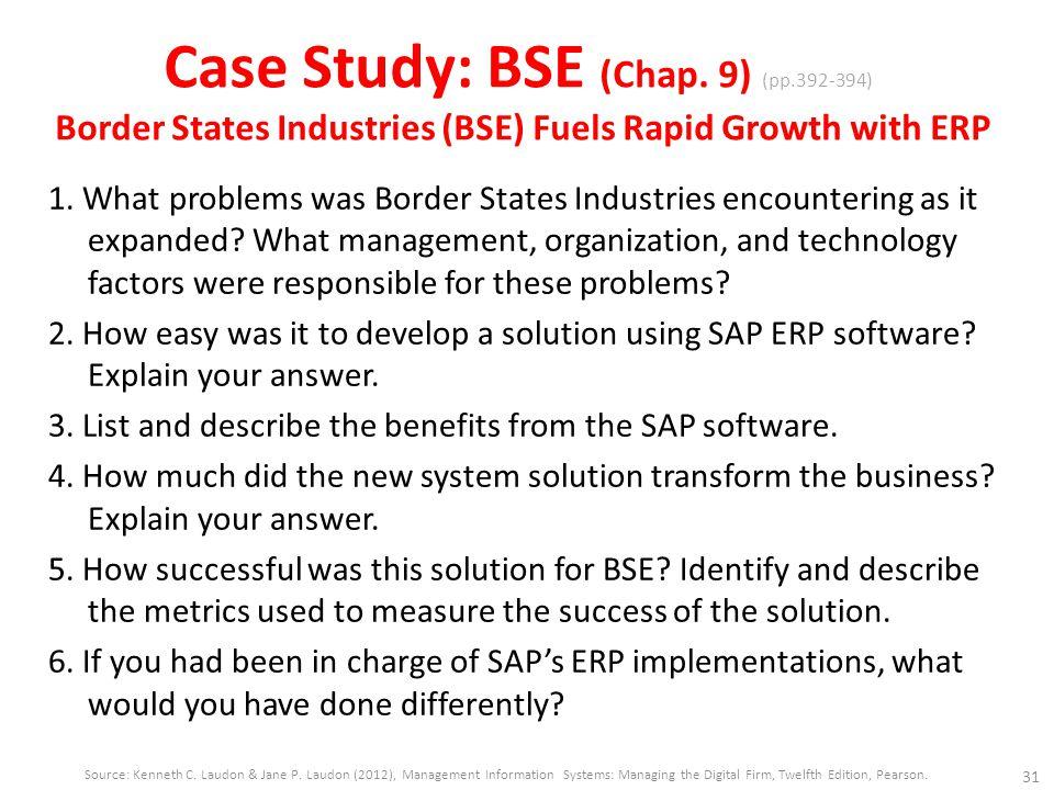Case Study: BSE (Chap. 9) (pp
