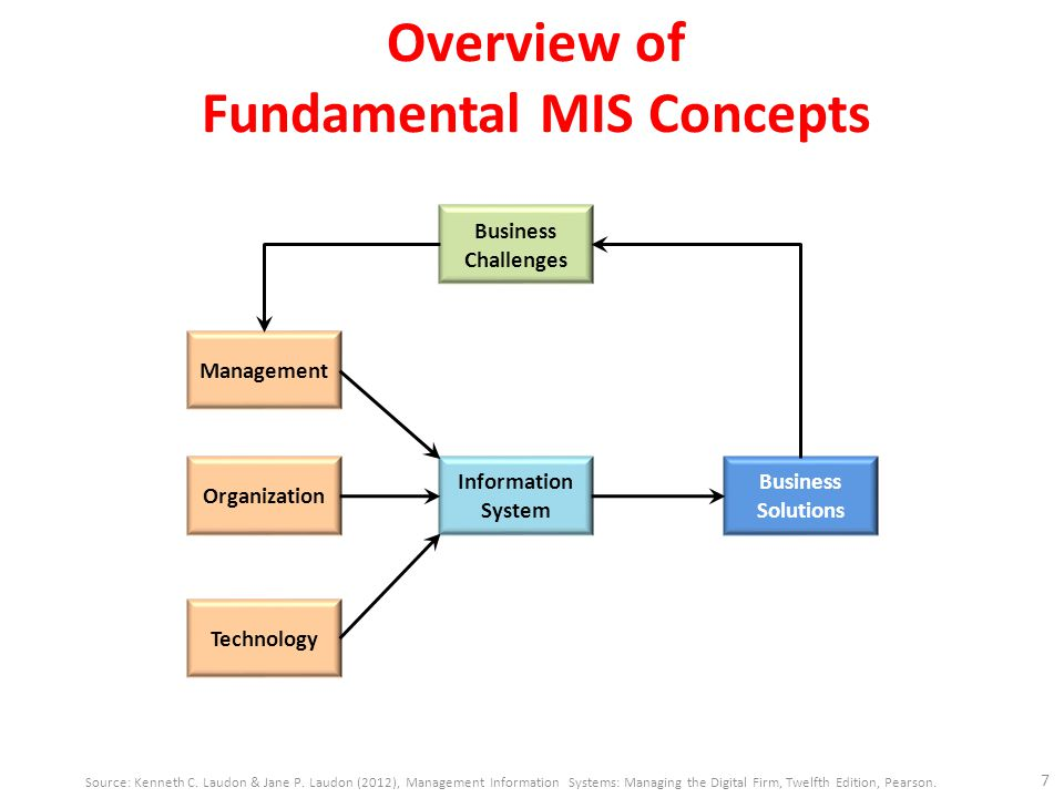 Overview of Fundamental MIS Concepts