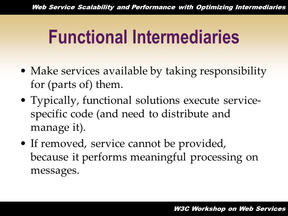 Functional Intermediaries