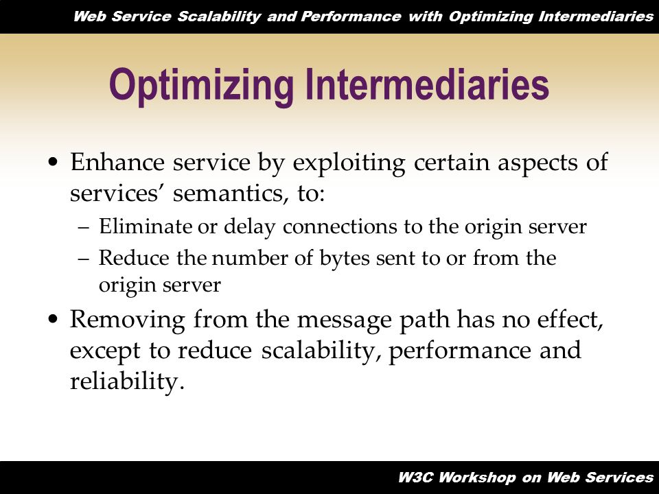 Optimizing Intermediaries