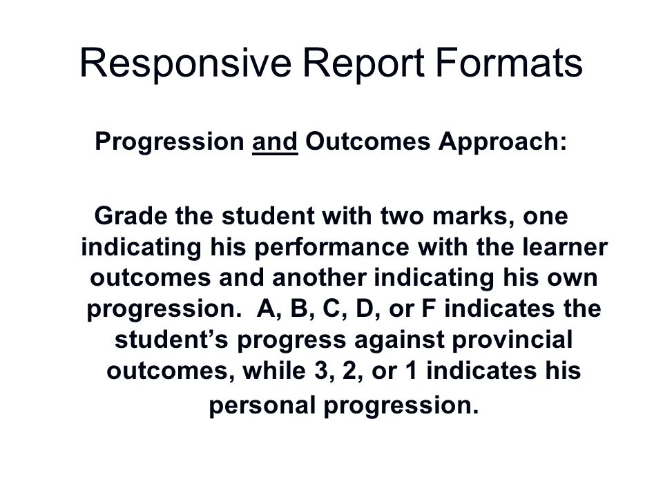 Responsive Report Formats
