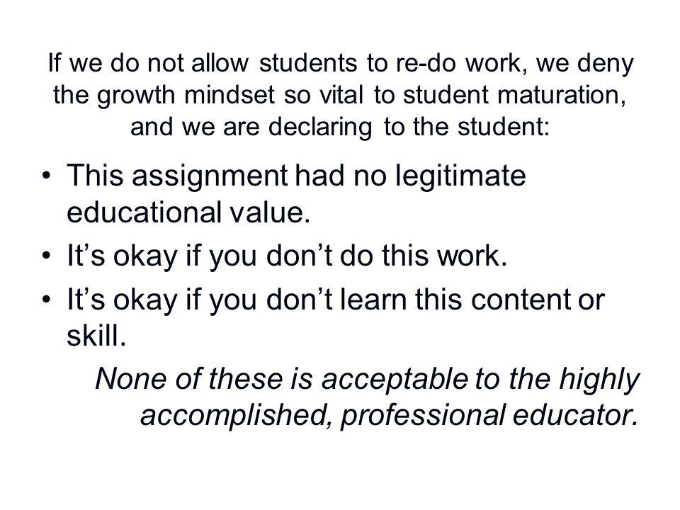 This assignment had no legitimate educational value.