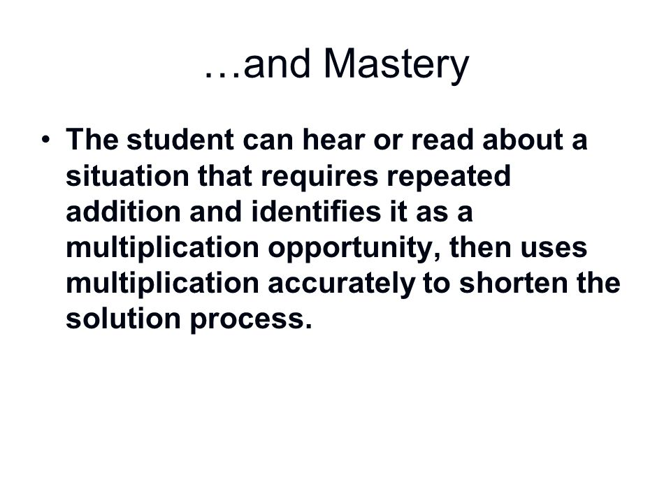 …and Mastery