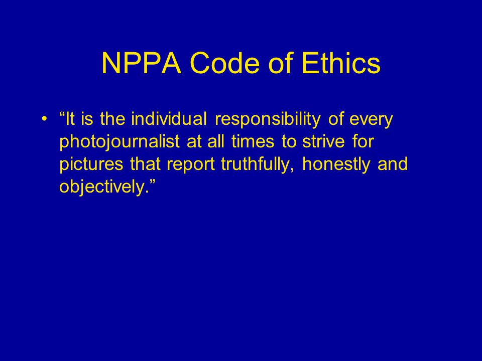 NPPA Code of Ethics