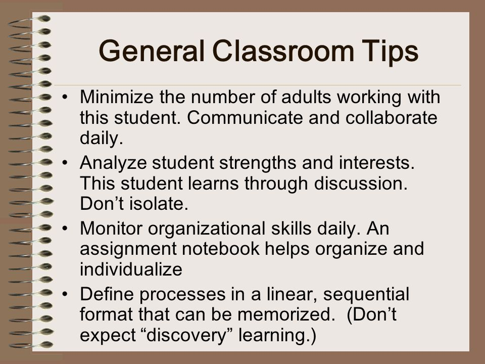 General Classroom Tips