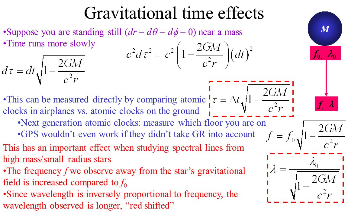 Gravitational time effects