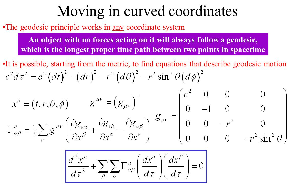 Moving in curved coordinates